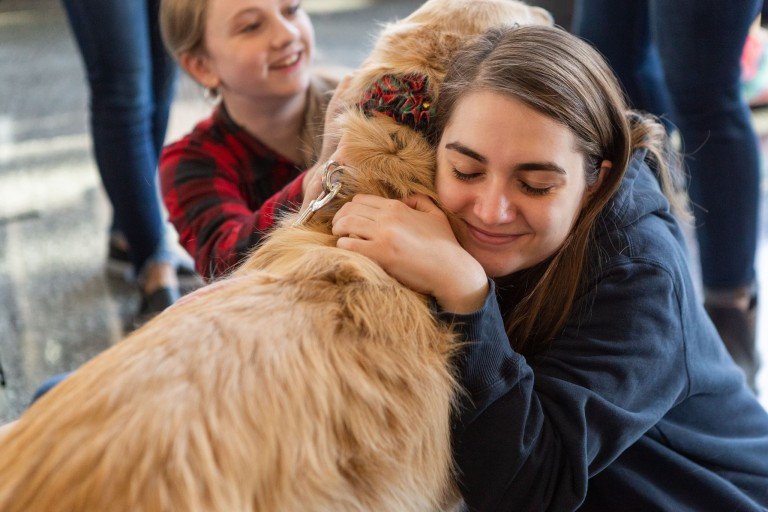Pet therapy will be featured at multiple events for finals de-stressing.
