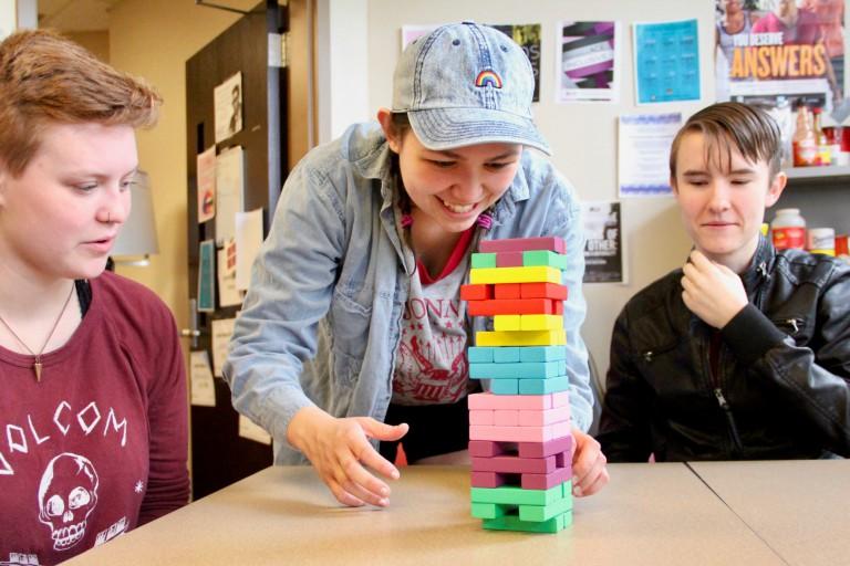 Students play Lewo at IUPUI LGBTQ+ Center.