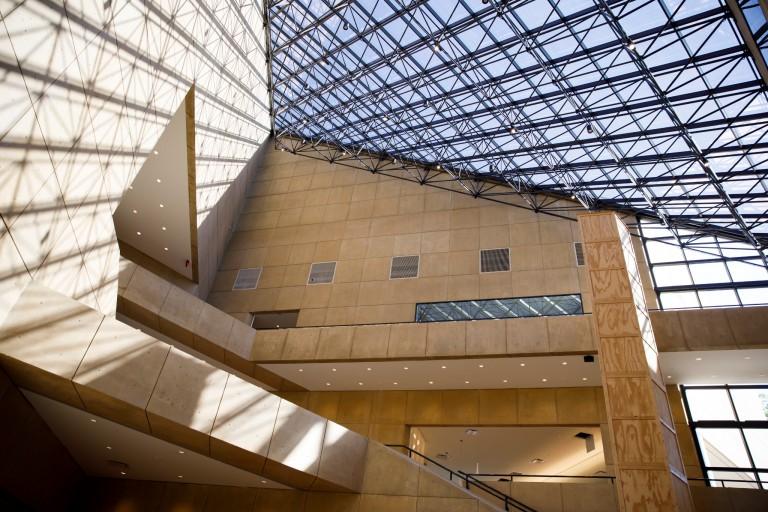 Atrium of the Eskenazi Museum of Art