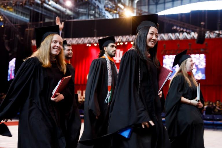 IUPUI graduates during the spring 2017 commencement ceremony