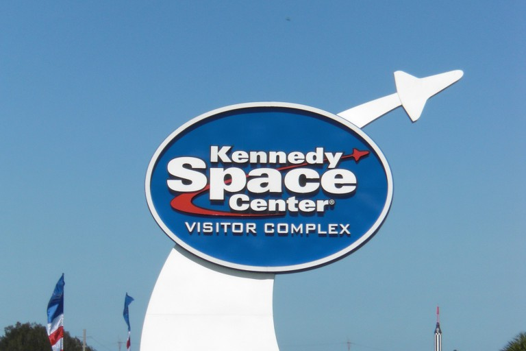 Kennedy Space Center sign