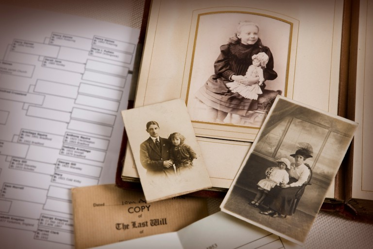 Old photos and a family tree