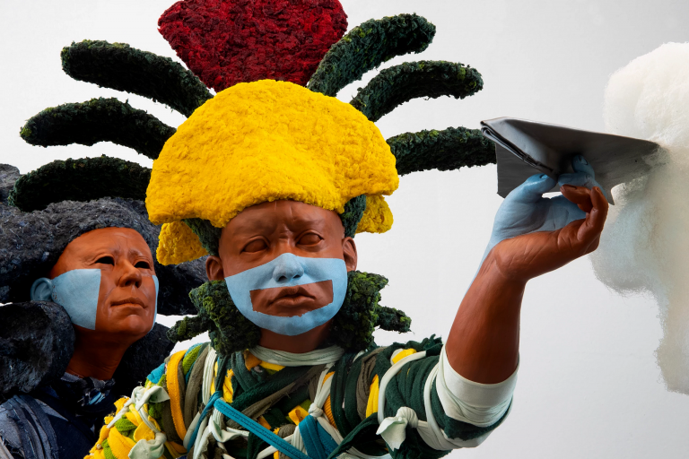 "closeup of Jonathan Christensen Caballero's ""Hijo Mio"""