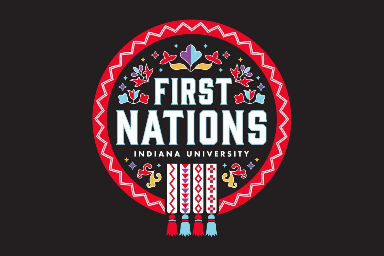 A graphic that says 'First Nations Indiana University'