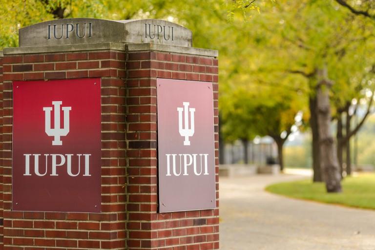 IUPUI campus sign