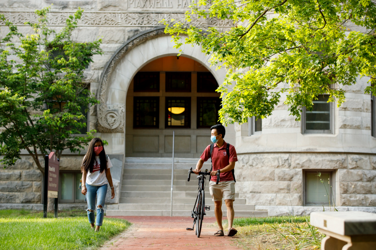 Students on the IU Bloomington campus