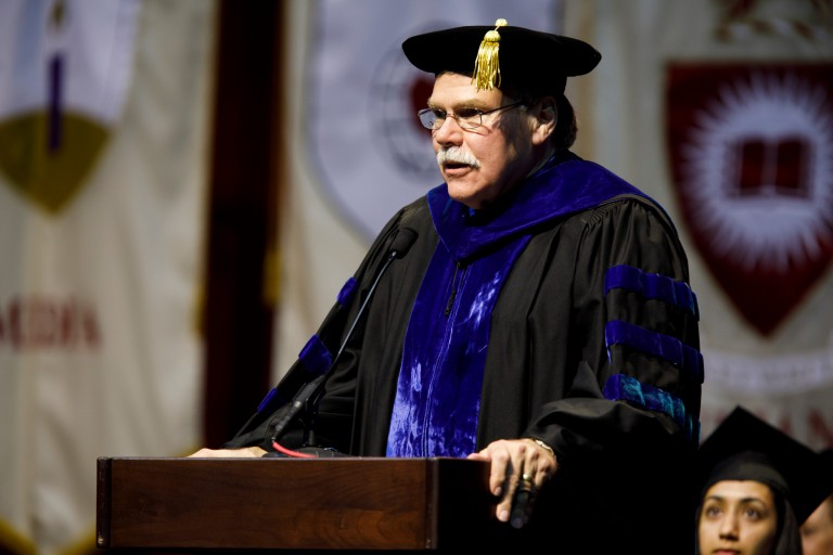 School of Social Work Dean Michael Patchner at commencement