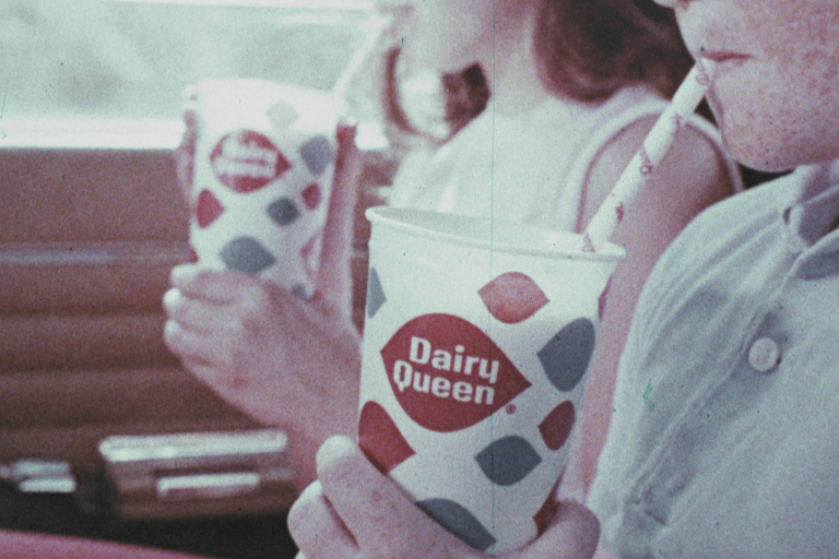 A still captured from a Dairy Queen commercial that is part of the Clio Awards collection