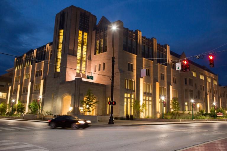 Kelley School at night