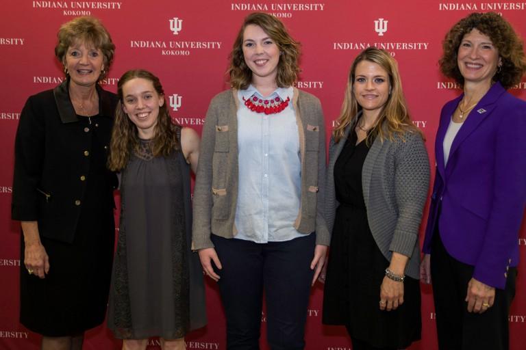 Susan Sciame-Giesecke, Abby Lefler, Brooke Runyon, Sarah Swoverland and Laurie Burns-McRobbie