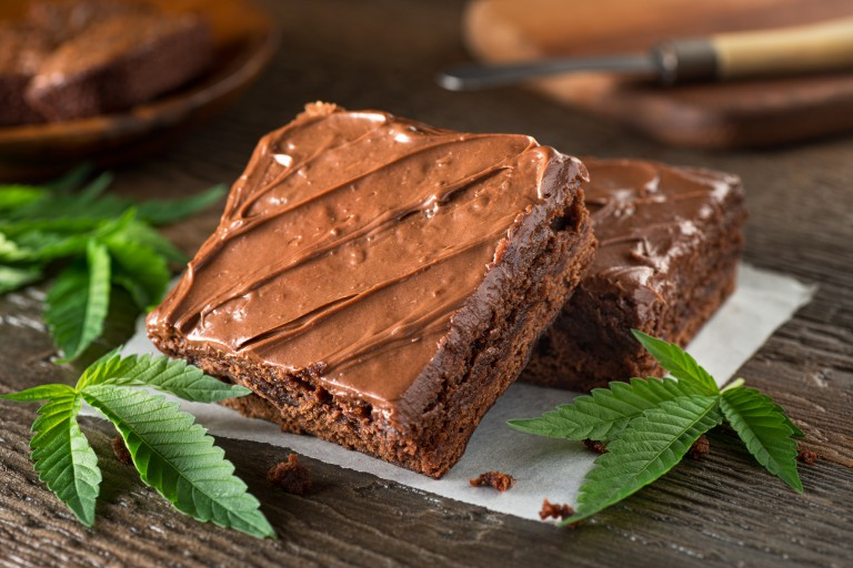 marijuana-infused brownie