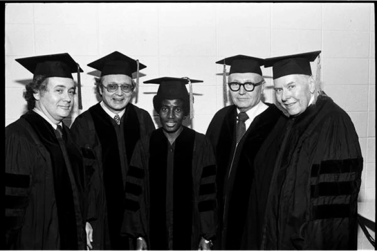 Gloria Randall Scott and others with honorary degree