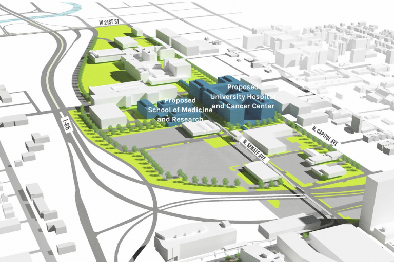 Proposed Health District Development Massing Diagram