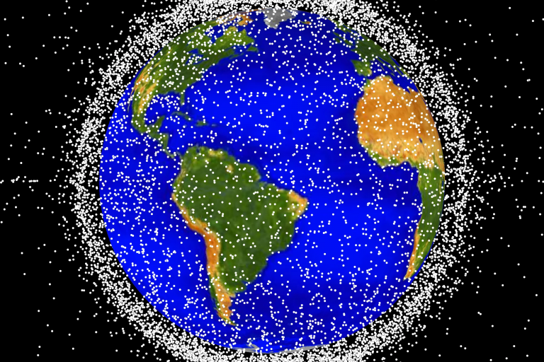 Low Earth orbit is the most concentrated area for orbital debris.