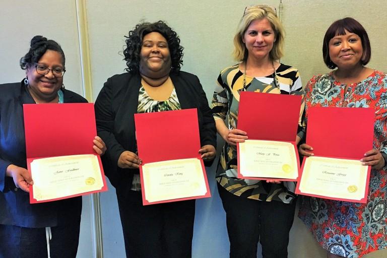 Former cohorts Janie Faulkner, Coretta King, Mary Price and Roxanne Gregg