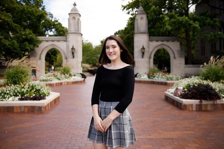 Olivia Kalish at the Sample Gates