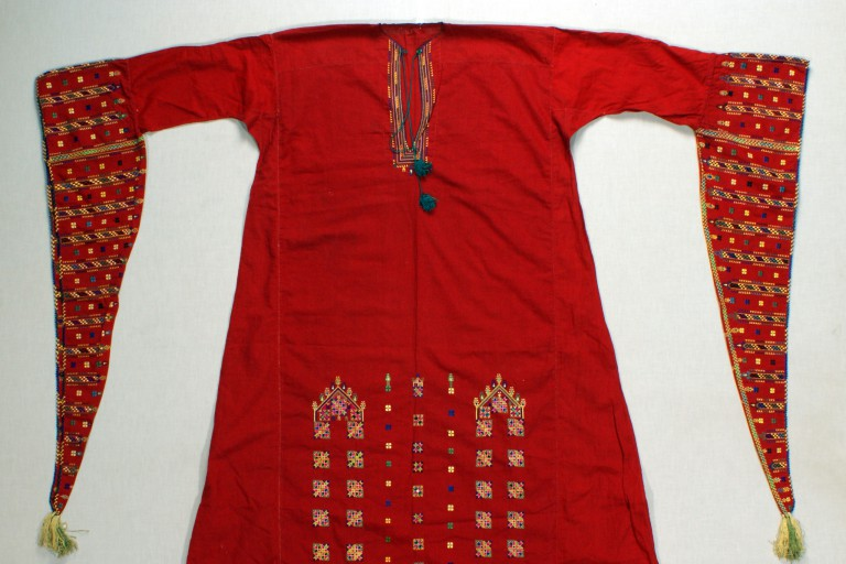 A woman's dress from the Quteife village in Syria