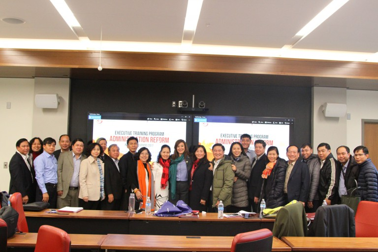 Officials from Ho Chi Minh City visit campus.