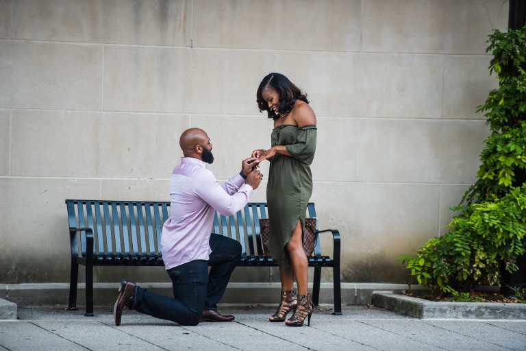 Paul Constantine proposing to Janese Banks
