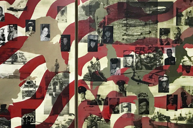 The Veterans for Peace mural at IU Southeast