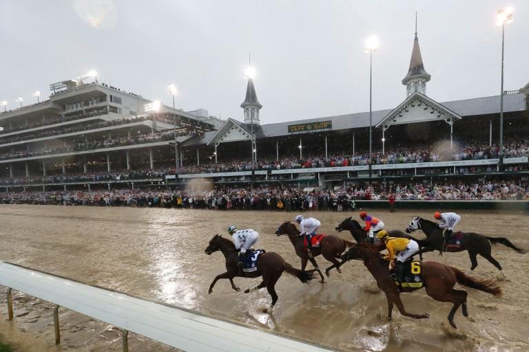 Horses race at Churchill Downs