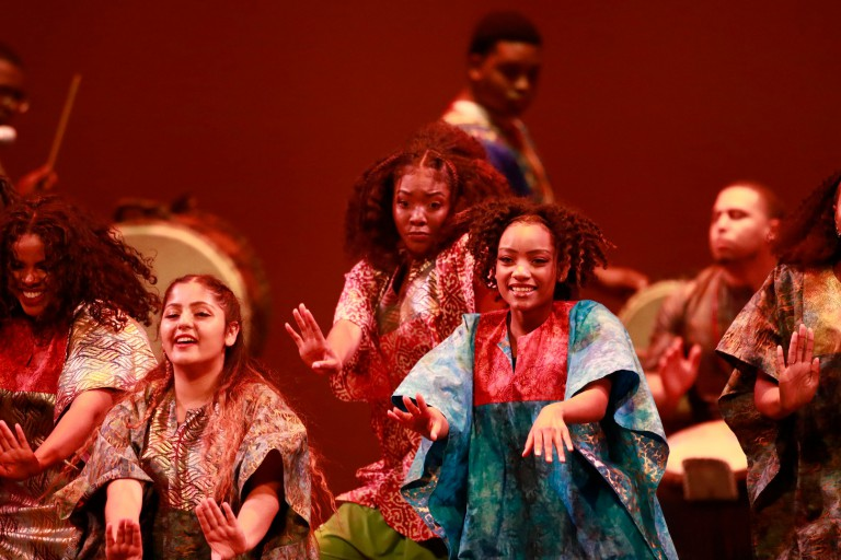 Members of the African American Dance Company perform at the 2018 Potpourri of the Arts