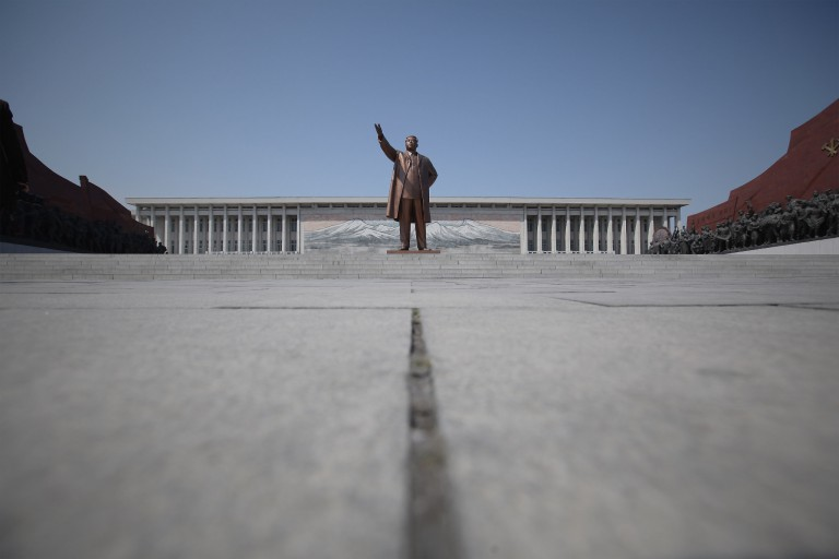 Kim Il Sung monument in Pyongyang