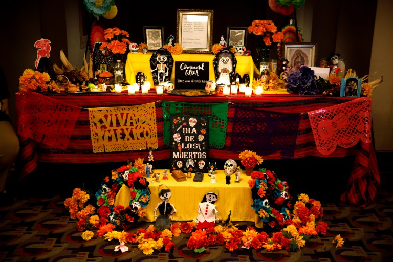An altar at the Day of the Dead celebration