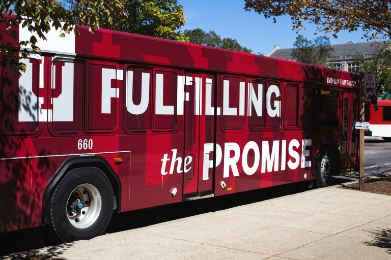 An IU campus bus