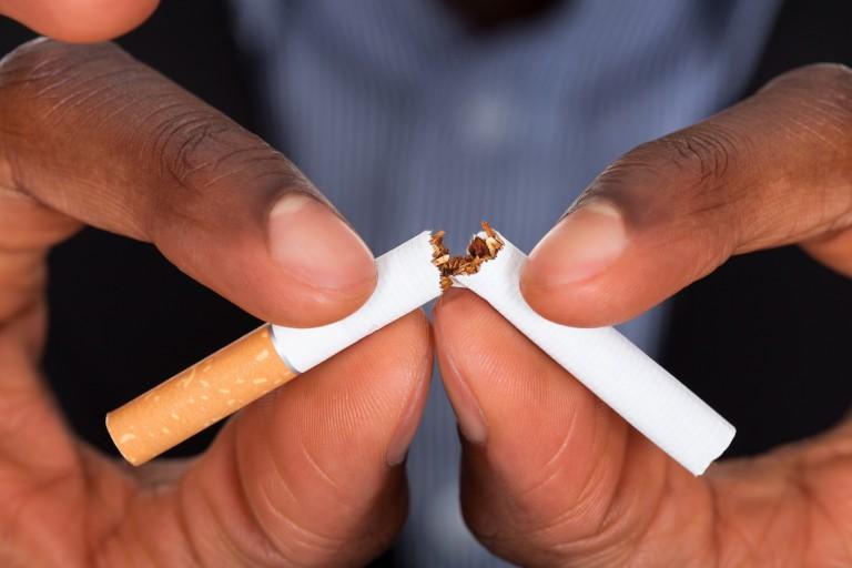 A cigarette breaks
