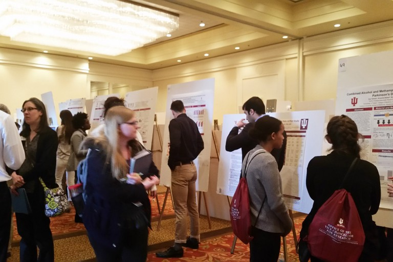 Student Research Day was very busy with posters and people.