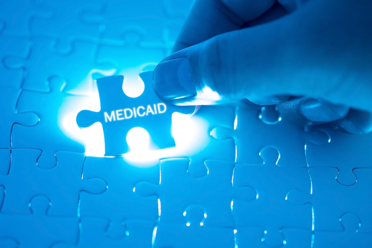 Puzzle piece reads 'medicaid'