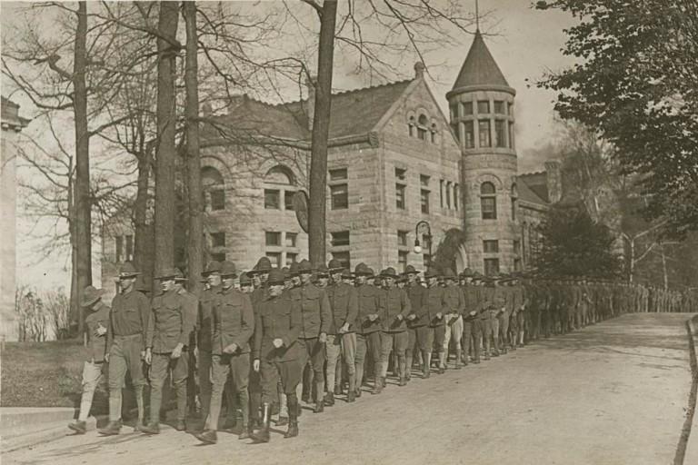 Armistice Celebration at IU Bloomington in 1918