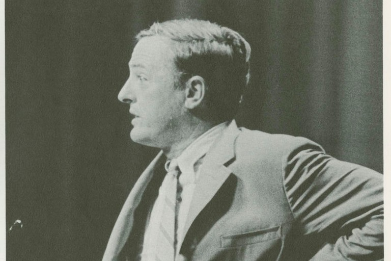 William F. Buckley speaking at IU in 1969