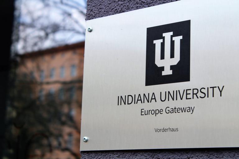 IU Europe Gateway office sign