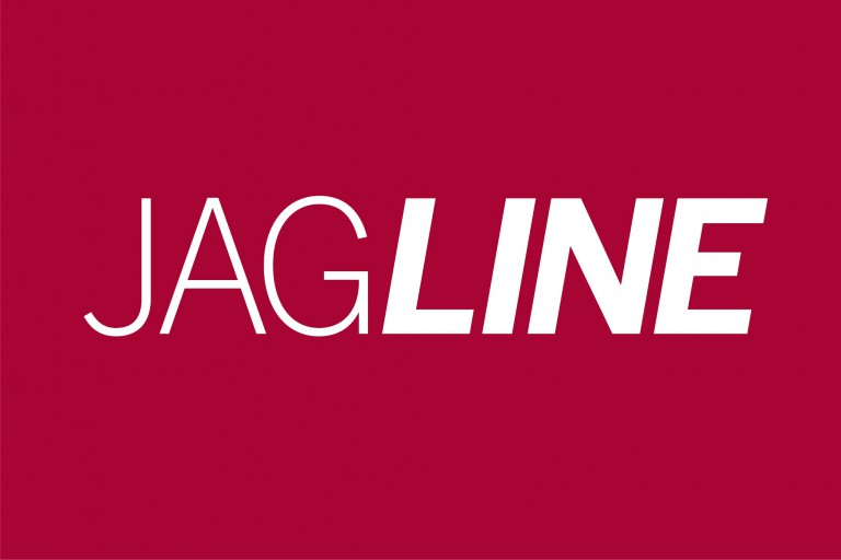 The logo for IUPUI's new shuttle service, JagLine