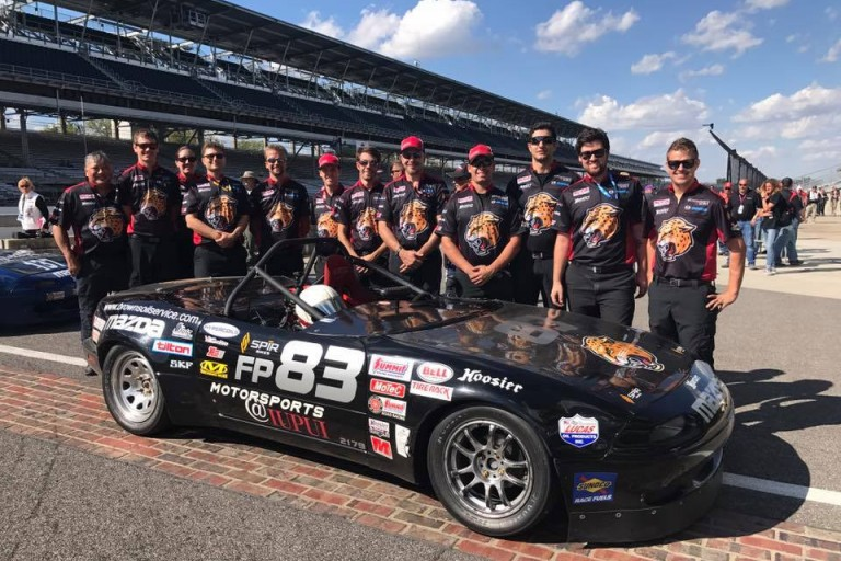 IUPUI Motorsports team at the Indianapolis Motor Speedway