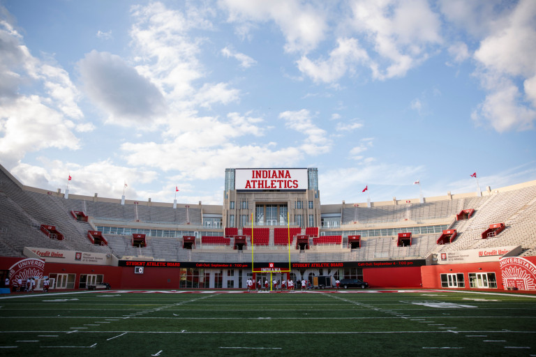 The interior of Memorial Stadium