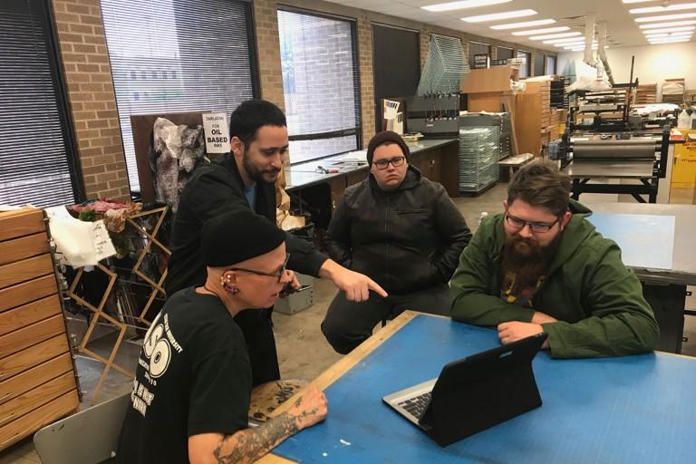 John Velez and students from Texas Tech