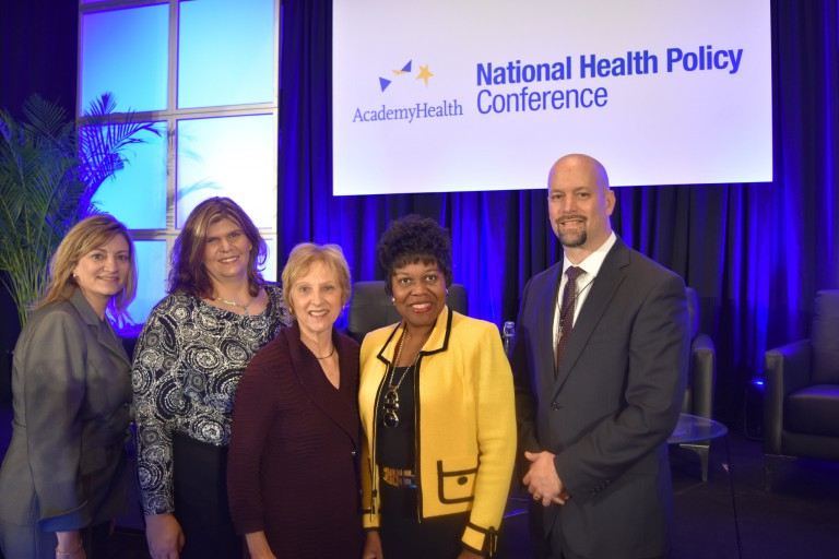 Graduate students and nursing school leaders at national AcademyHealth conference