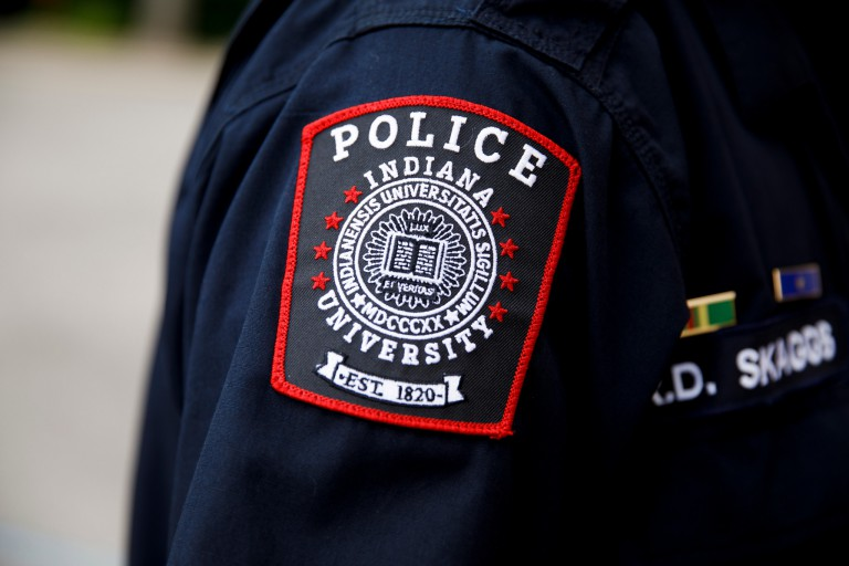An Indiana University Police Department patch.