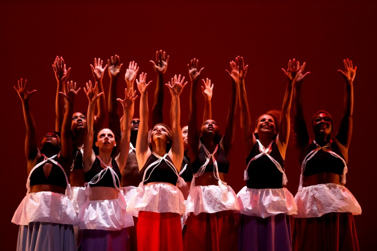 The African American Dance Company performs during Potpourri of the Arts.