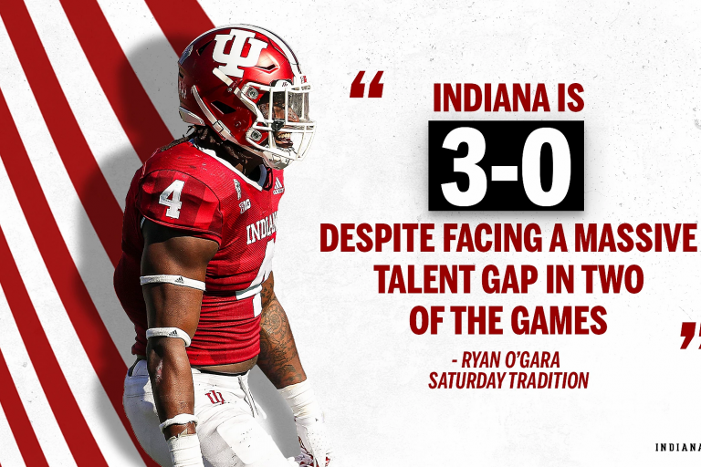 iu football graphic touting 3-0 record