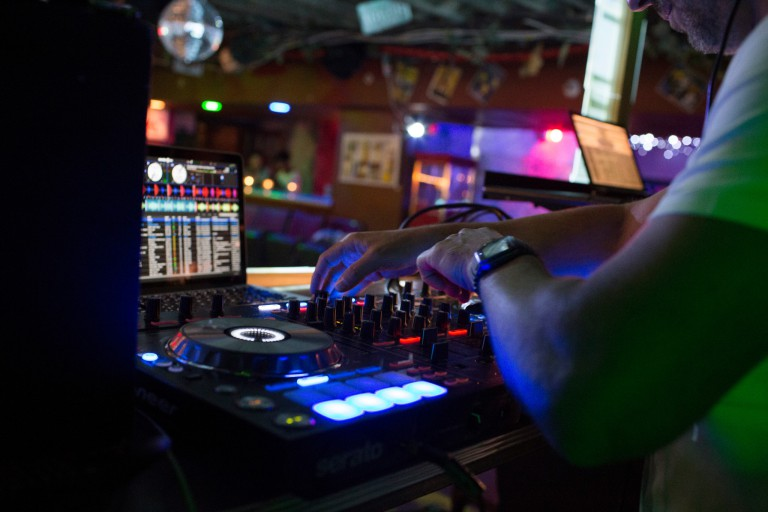 Hands on DJ equipment