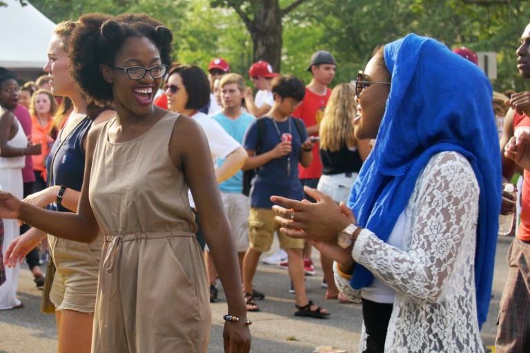 Students dance at Culturefest