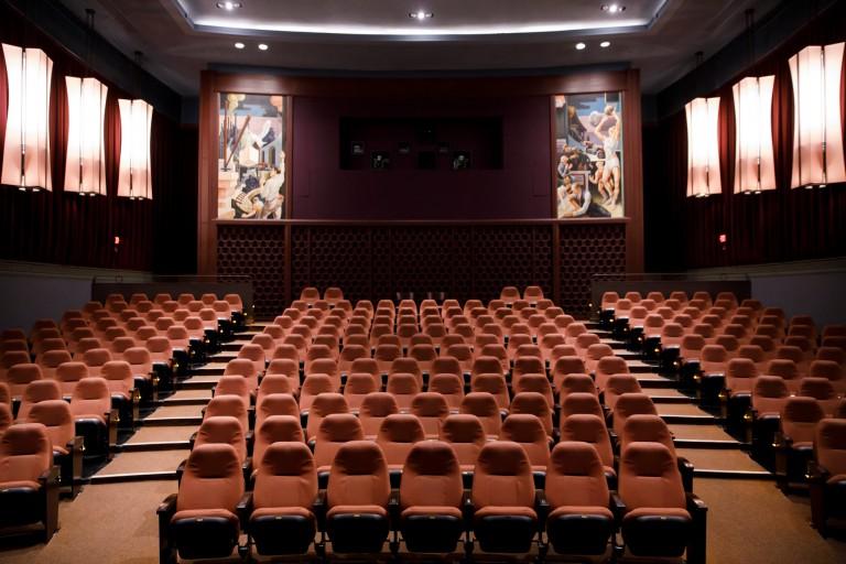 An interior shot of IU Cinema on the Bloomington campus