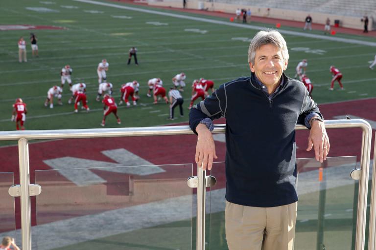 Tom McAllister stands by IU football field