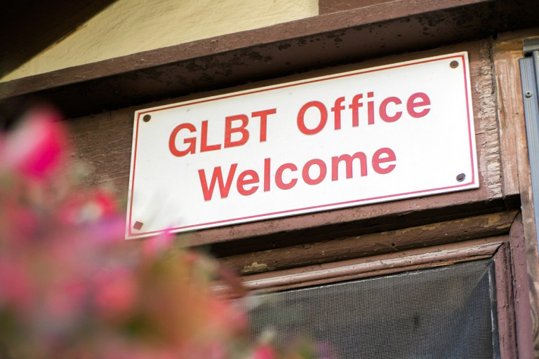 entrance to the glbt office