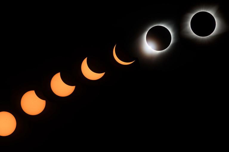 The solar eclipse path