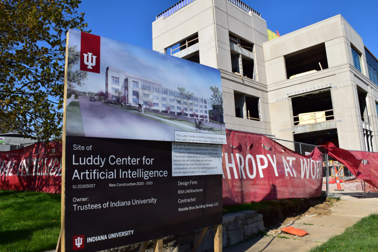 Ongoing construction of the Luddy Center for Artificial Intelligence